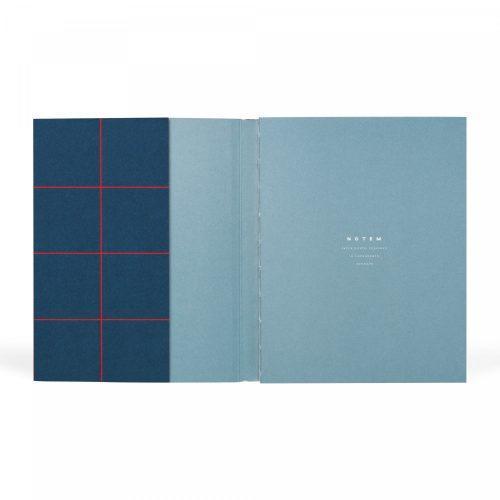 UMA medium_dark blue_first page quaderno minimal dotted a5