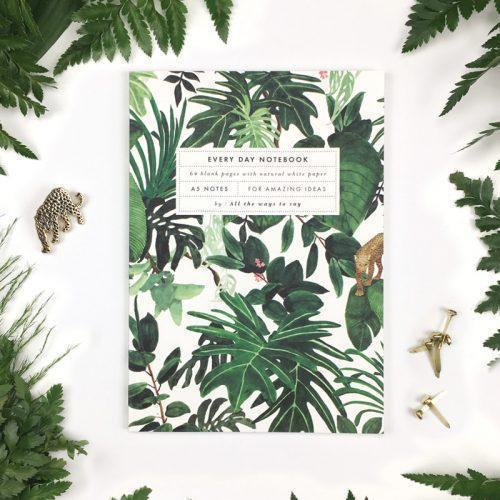 quaderno jungle pagine bianche repap